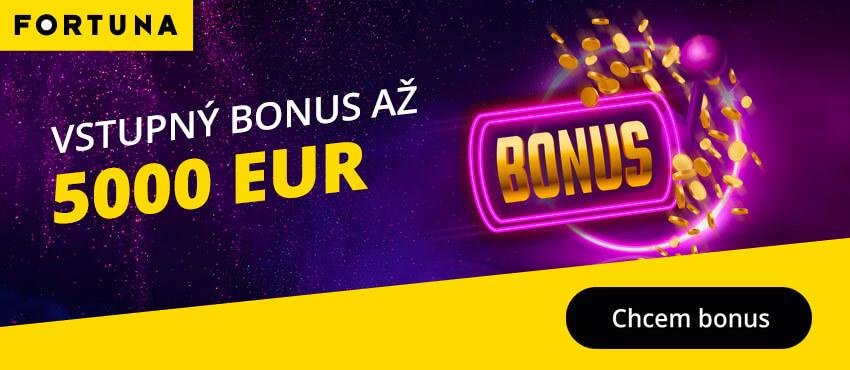 Fortuna casino vstupný bonus 5000 €