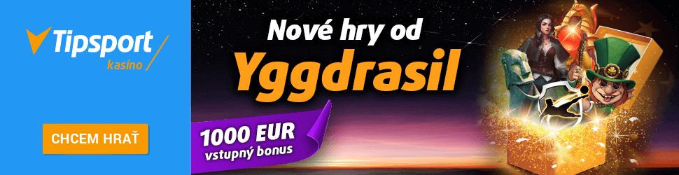 Tipsport kasíno nové hry Yggdrasil