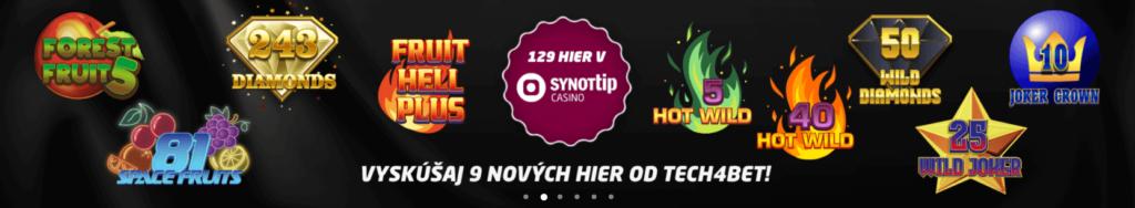 SynotTip Casino - 9 nových hier
